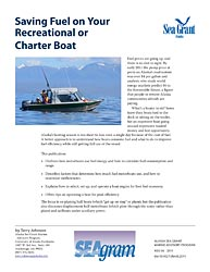 Saving Fuel on Your Recreational or Charter Boat