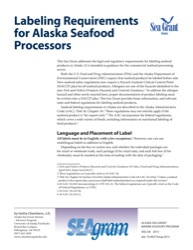 Labeling Requirements for Alaska Seafood Processors