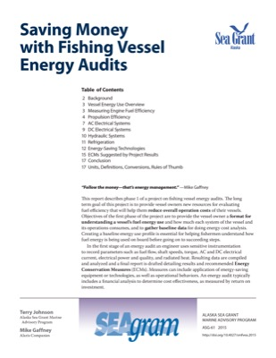 Saving Money with Fishing Vessel Energy Audits