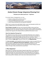 Alaska Climate Change Adaptation Planning Tool