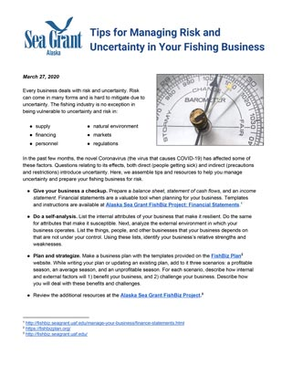Tips for Managing Risk and Uncertainty in Your Fishing Business