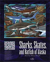Sharks, Skates, and Ratfish of Alaska Poster