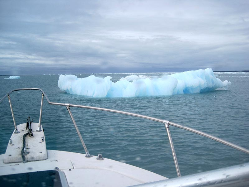 boat and iceberg