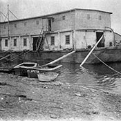Old black and white picture of a cannery