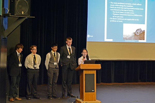 students participating in 2016 NOSB competition